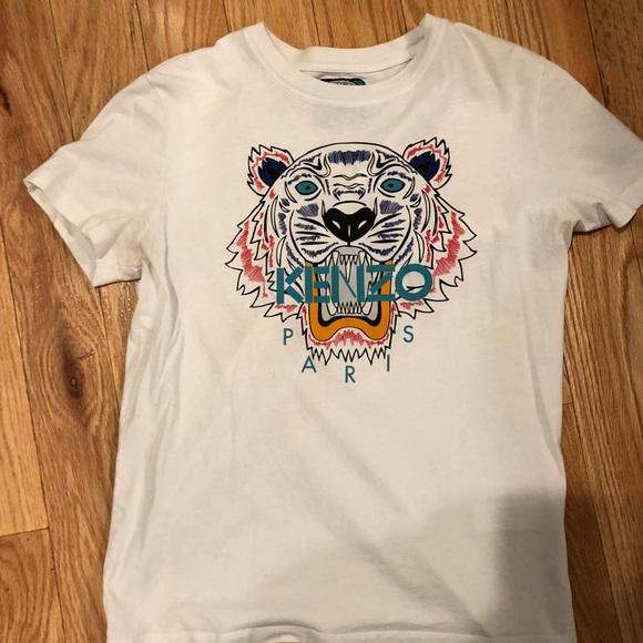 5ed0135f Tops | Authentic White Womens Kenzo T Shirt Size Medium | Poshmark
